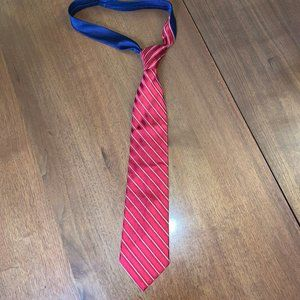5/$25! Tommy Hilfiger red striped silk tie